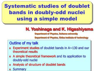 Systematic studies of doublet bands in doubly-odd nuclei using a simple model