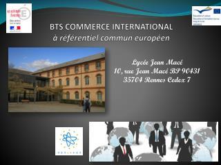 BTS COMMERCE INTERNATIONAL � r�f�rentiel commun europ�en