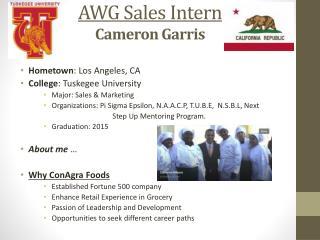 AWG Sales Intern Cameron Garris