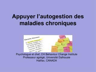 Appuyer l'autogestion des maladies chroniques