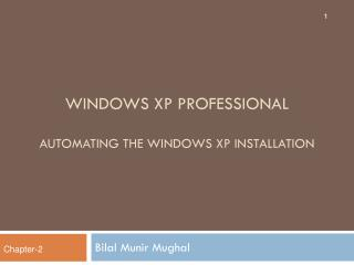 Windows  xp  professional Automating the Windows XP Installation
