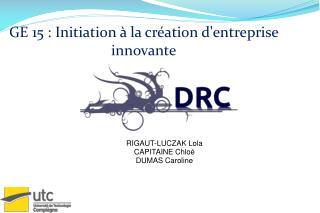 GE 15 : Initiation à la création d'entreprise innovante