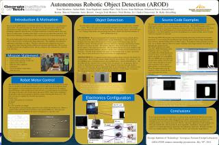 Autonomous Robotic Object Detection (AROD)