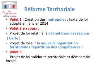 R�forme Territoriale