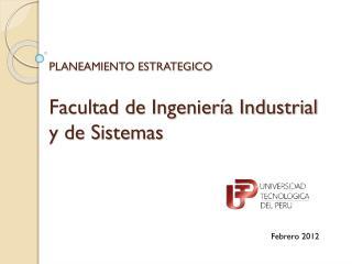 Facultad de Ingenier�a Industrial y de Sistemas