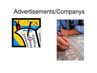 Advertisements/Companys