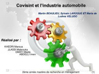 Covisint et l�industrie automobile
