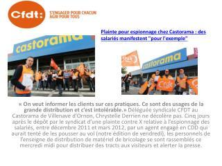 Plainte pour espionnage chez Castorama : des salariés manifestent