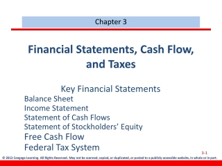 Chapter 3  The Income Statement