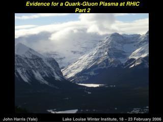 Evidence for a Quark-Gluon Plasma at RHIC Part 2