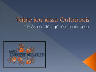 Table jeunesse Outaouais
