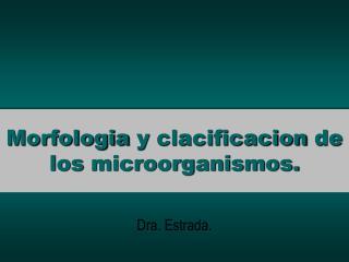 Morfologia  y  clacificacion  de los  microorganismos .