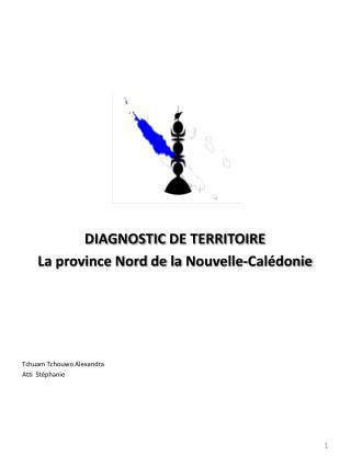 DIAGNOSTIC  DE TERRITOIRE La province Nord de la  Nouvelle-Calédonie Tchuam Tchouwo Alexandra
