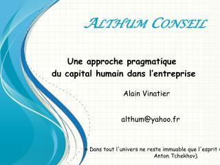 Althum  Conseil