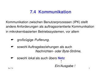 7.4  Kommunikation