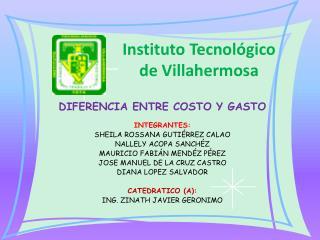 Instituto Tecnológico de Villahermosa