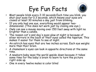 Eye Fun Facts