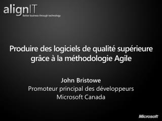 Produire des logiciels de qualité supérieure grâce à la méthodologie Agile