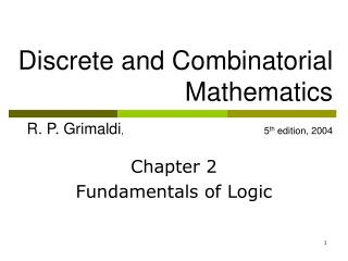 Chapter 2 Fundamentals of Logic