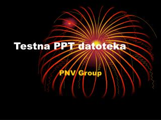 Testna PPT datoteka