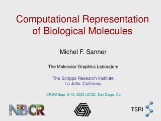 Computational Representation of Biological Molecules