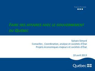 Faire des affaires avec le gouvernement du Québec
