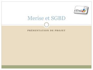 Merise et SGBD