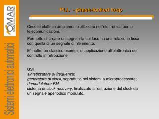 PLL  -  phase-locked loop