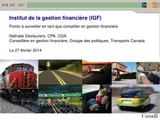 Institut de la gestion financière (IGF)
