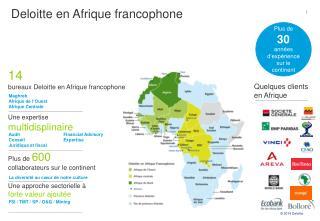 Plus de  600 collaborateurs sur le continent Une approche sectorielle à  forte valeur ajoutée