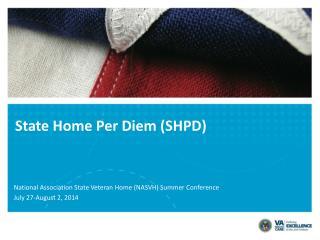 State Home Per Diem (SHPD)