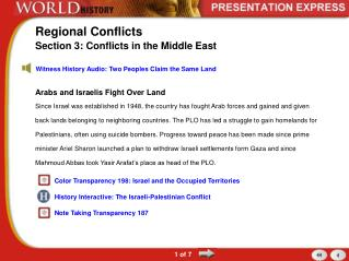 Regional Conflicts