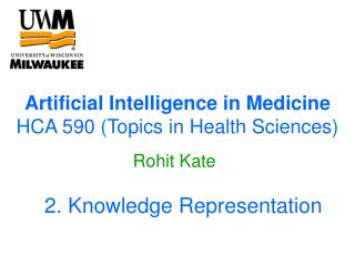 Artificial Intelligence in Medicine HCA 590 (Topics in Health Sciences)