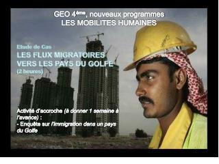 GEO 4 ème , nouveaux programmes LES  MOBILITES HUMAINES