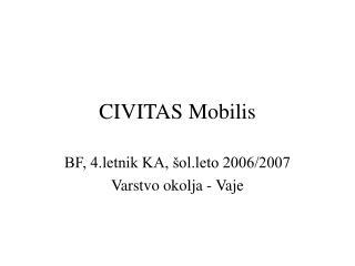 CIVITAS Mobilis