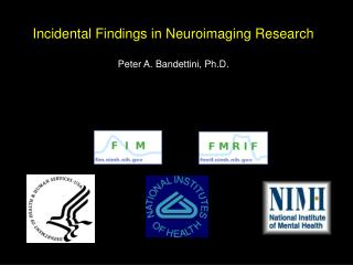 Incidental Findings in Neuroimaging Research Peter A. Bandettini, Ph.D.