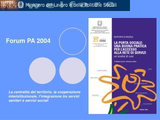 Forum PA 2004