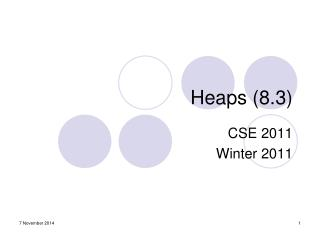 Heaps (8.3)