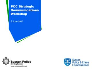 PCC Strategic Communications Workshop