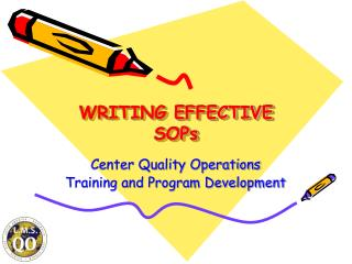 WRITING EFFECTIVE SOPs