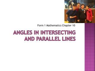 Angles in Intersecting and Parallel Lines