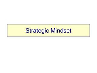 Strategic Mindset