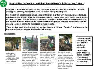 How do I Make Compost and How does it Benefit Soils and my Crops?