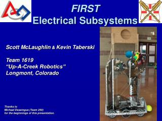 FIRST  Electrical Subsystems