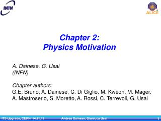 Chapter 2: Physics Motivation