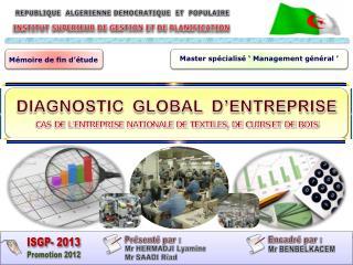 INSTITUT SUPERIEUR DE GESTION ET DE PLANIFICATION