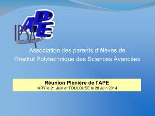 Association des parents d'élèves de  l'Institut Polytechnique des Sciences Avancées