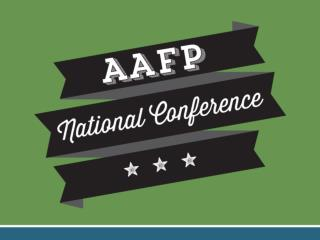 Evaluate sessions at aafp/nc/evals