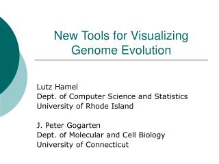 New Tools for Visualizing Genome Evolution