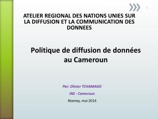 ATELIER REGIONAL DES NATIONS UNIES SUR LA DIFFUSION ET LA COMMUNICATION DES DONNEES